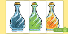 Medicine Bottles Display Cut-Outs