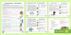 60-Second Reads: Healthy Living Activity Cards