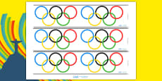 The Olympic Rings Display Borders