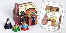 Hansel and Gretel Cottage Paper Model