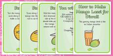 Mango Lassi Diwali Recipe Cards