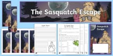 * NEW * Years 3 and 4 Chapter Chat Week 1   Activity Pack to Support Teaching on The Sasquatch Escape by Suzanne Selfors