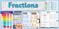 Fractions Display Pack LKS2