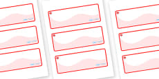 Maple Themed Editable Drawer-Peg-Name Labels (Colourful)