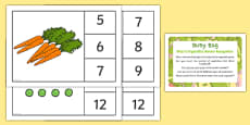 Number Recognition Activity to Support Teaching on Oliver's Vegetables Busy Bag Prompt Card and Resource Pack