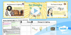 PlanIt - DT LKS2 - Battery Operated Lights Unit Lesson 1: Our Changing Technologies Lesson Pack