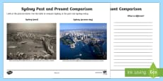 People and Places - Sydney Past and Present Activity Sheet