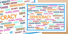 Democracy Word Poster