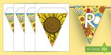 * NEW * Our Reading Garden Display Bunting