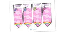 Fairy Sticker Reward Bookmarks (30mm)