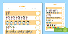 Circus Themed Counting Activity Sheet