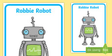 Robbie Robot Image Display Poster