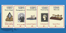 Timeline Of Victorian Inventions Display Posters