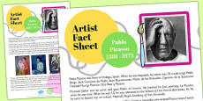 Artist Fact Sheet Pablo Picasso