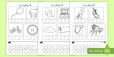 Ficha de actividad : La letra B Spanish / Español