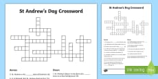 Saint Andrew's Day Crossword