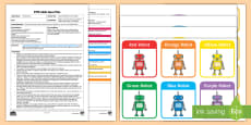 * NEW * EYFS Colour Robots Position Game Adult Input Plan and Resource Pack