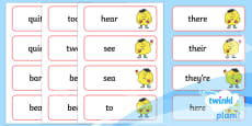 PlanIt English Additional Resources Year 2 Term 3B Spelling Word Cards