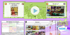 PlanIt - French Year 3 - Our School Lesson 5: Around Our School Lesson Pack