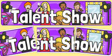 Talent Show Role Play Display Banner