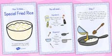Australia - Special Egg Fried Rice Recipe Cards