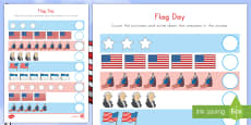 Flag Day Counting Activity