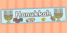 Hanukkah Display Banner