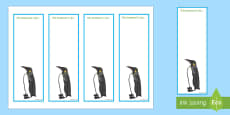 Penguin Editable Bookmarks