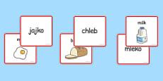 Food Matching Cards Polish