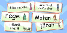 Motanul Încălțat - Cartonașe cu imagini și cuvinte