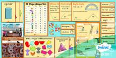 PlanIt Y3 Properties of Shapes Display Pack
