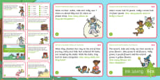 * NEW * KS1 Treasures in the Garden Addition and Subtraction Maths Challenge Cards