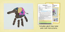 Decorated Elephant Handprints EYFS Adult Input Plan and Craft Pack