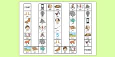 Word Initial f Board Game
