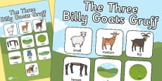 The Three Billy Goats Gruff Vocabulary Poster