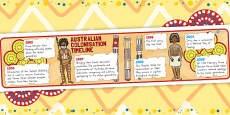 Australian Colonisation Story Timeline Posters