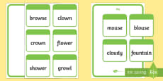 Word Sort  ou and ow Activity