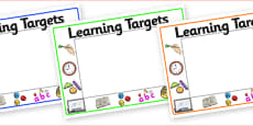 Editable 'Learning Targets' Display Signs