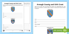 Armagh County and GAA Crest Activity Sheet