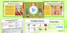 PlanIt - Science Year 6 - Living Things and Their Habitats Lesson 2: Linnaean System Lesson Pack