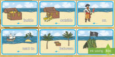 Pirate Positional Language Posters