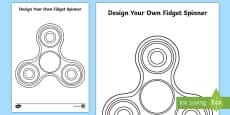 Design Your Own Fidget Spinner Activity Sheet