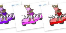Days of the Week on Teddy Bears