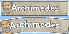 Archimedes Display Banner