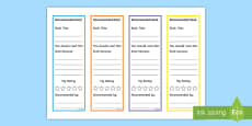 * NEW * Recommended Read Editable Bookmarks