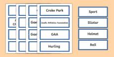GAA Vocabulary Word Cards