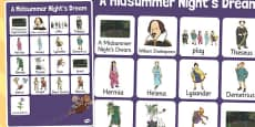 A Midsummer Night's Dream Vocabulary Mat