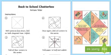 Back to School Chatterbox or Fortune Teller