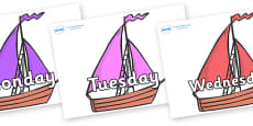 Days of the Week on Sailing Boats to Support Teaching on Where the Wild Things Are