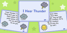 I Hear Thunder Story Sequencing